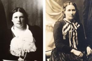 Ólína Kristín Snæbjörnsdóttir (1879-1964) og Þórunn Magnúsdóttir (1878-1960)