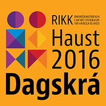 RIKK dagskrá haust 2016