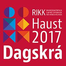 RIKK dagskrá haust 2017