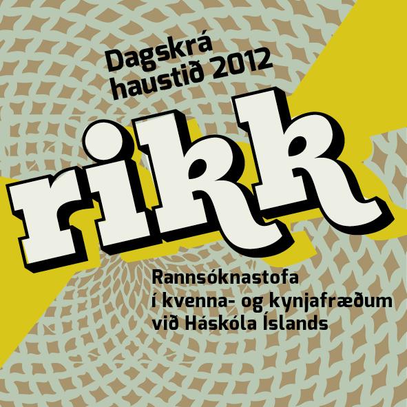 RIKK haustdagskrá 2012